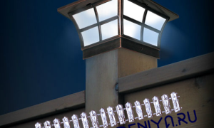 Колпаки на заборные столбы: изготовь и установи сам!