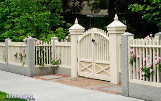Красивый забор для частных домов: фото