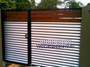 Калитка-ворота из профлиста