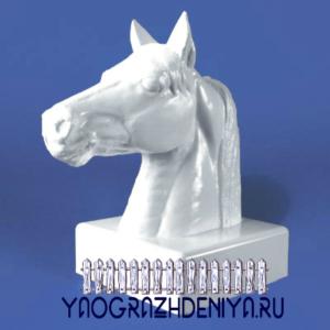 Колпак в форме коня для забора