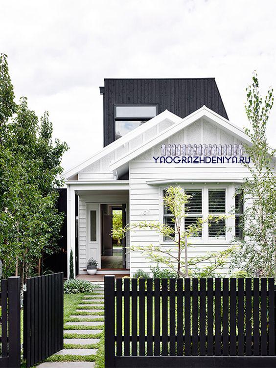 фото забор для частного дома