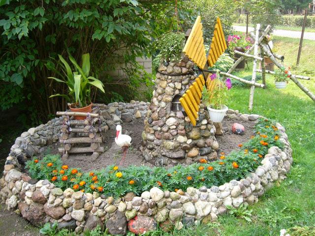 Оградка из натурального камня