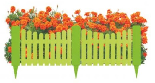 Декоративный заборчик для удержания цветов