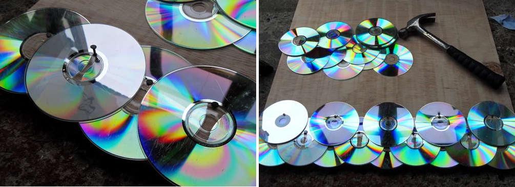 Крепление дисков на заборную панель