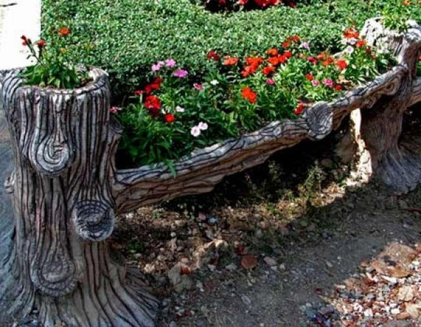 Декоративный заборчик для сада из коряг